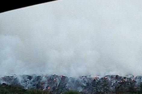 Свалка в Сальске горит уже несколько дней