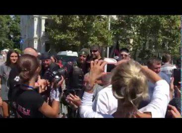 «Ночные волки» передали привет сальчанам в видеообращении из Севастополя