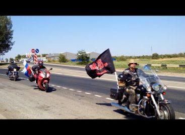 Байкеры мотоклуба «Ночные волки» заехали в Сальск по пути в Севастополь