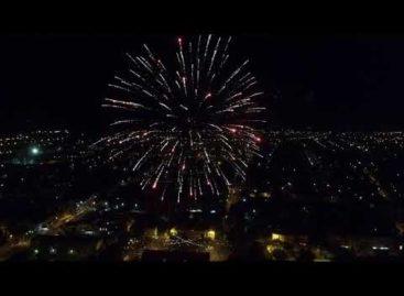 Сальчане отметили 205-летие родного города — съёмка фейерверка с высоты птичьего полёта