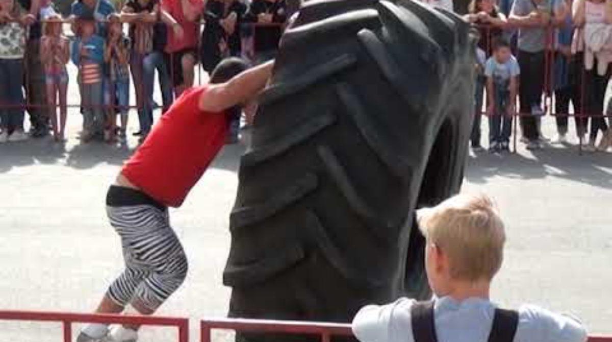 В Сальске шоу «Силовой экстрим» показали в День города