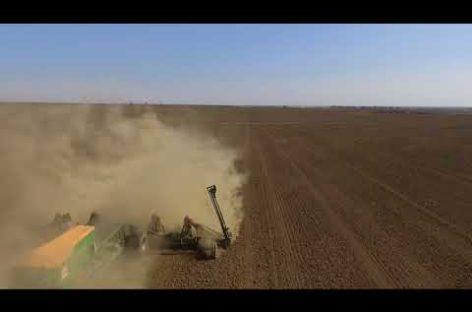 В Сальском районе начался сев пшеницы — видео с коптера