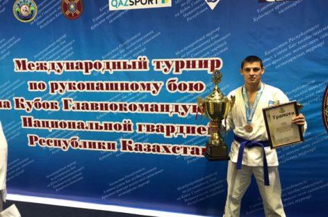 Сальчанин взял «бронзу» на международном турнире по рукопашному бою в Казахстане