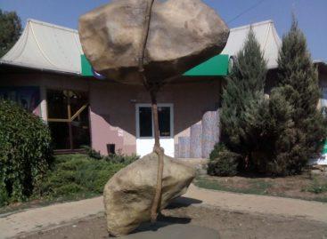 Сальчане интересуются, что означает скульптура, установленная на улице Пушкина