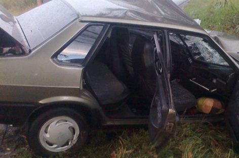 На дороге «Сальск — Егорлыкская» столкнулись две «Лады»