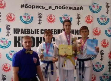 Сальские каратисты киокусинкай завоевали «золото» и «бронзу» в Анапе