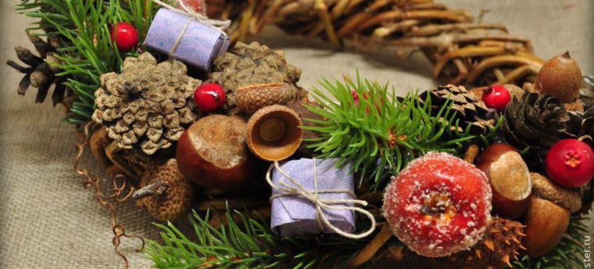 Мастер-класс от сальской мастерицы: плетём рождественский венок