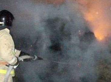 Глубокой ночью в Конезаводе имени Будённого загорелся сенник