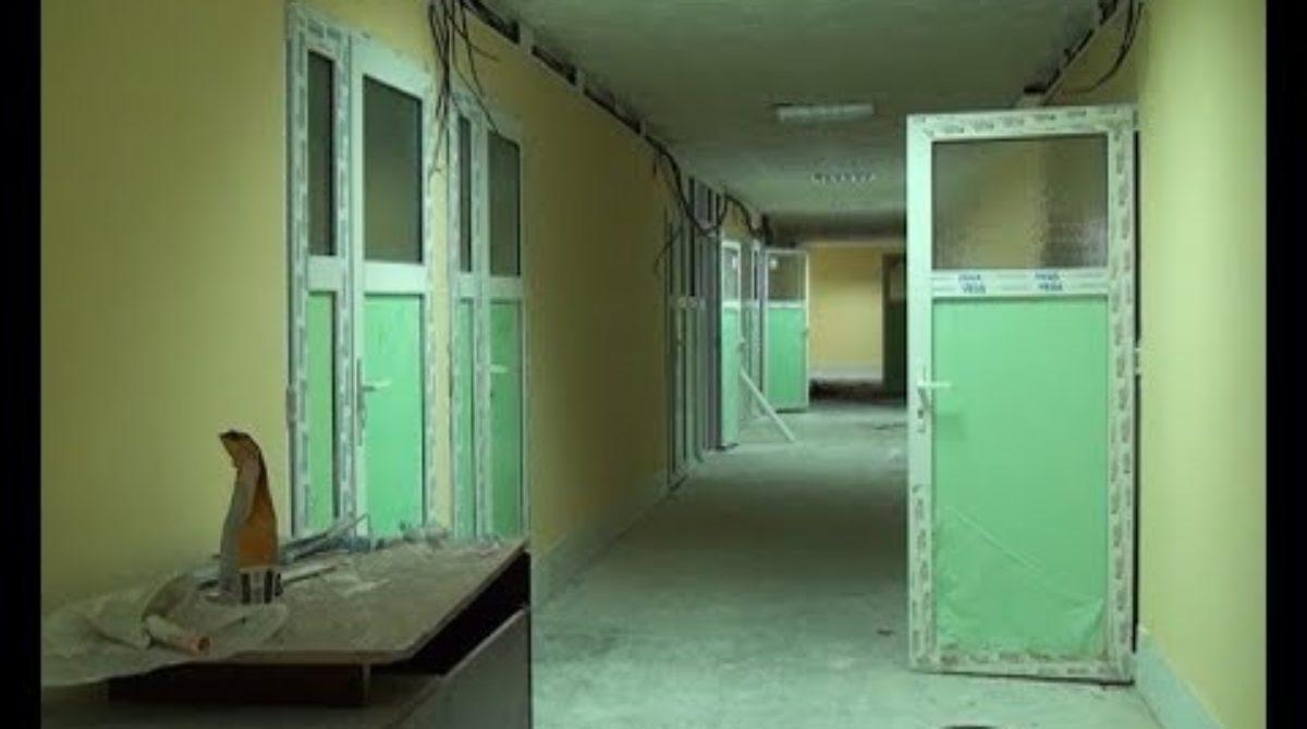 Завершается ремонт нового здания детской поликлиники