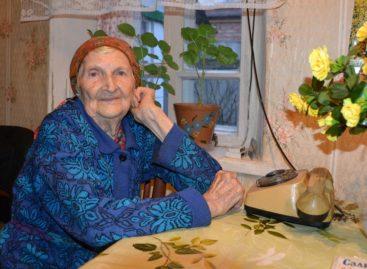Сальчанка Евдокия Волошко отмечает столетний юбилей