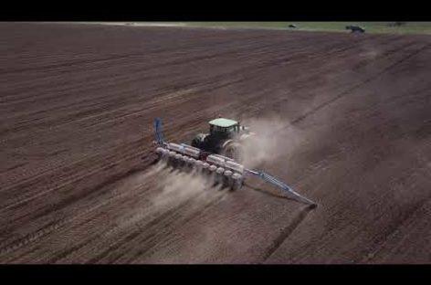 Видео с высоты птичьего полета: в Ивановке сеют подсолнечник