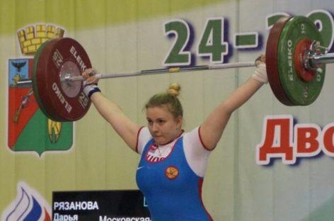 Сальская тяжелоатлетка Дарья Рязанова снова победила на первенстве России