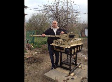 Умелец из Белозерного сварил модель немецкого танка