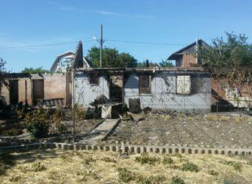 На Бровках пожар на улице Грушевой оставил без жилья семью