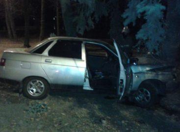 Водитель «десятки» съехал с дороги и врезался в дерево