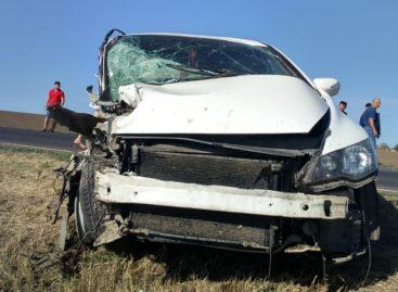 Под Кручёной Балкой 23-летний водитель допустил лобовое столкновение