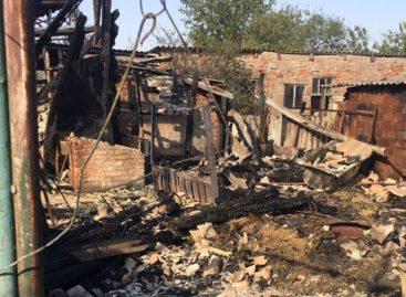 На окраине Сальска в огне погибли животные