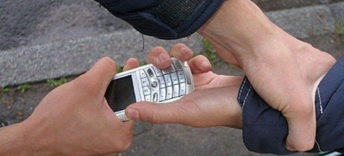 У сальчанина отняли телефон в городском парке