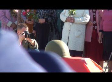 В Сальском районе перезахоронили останки бойца из Екатериновки