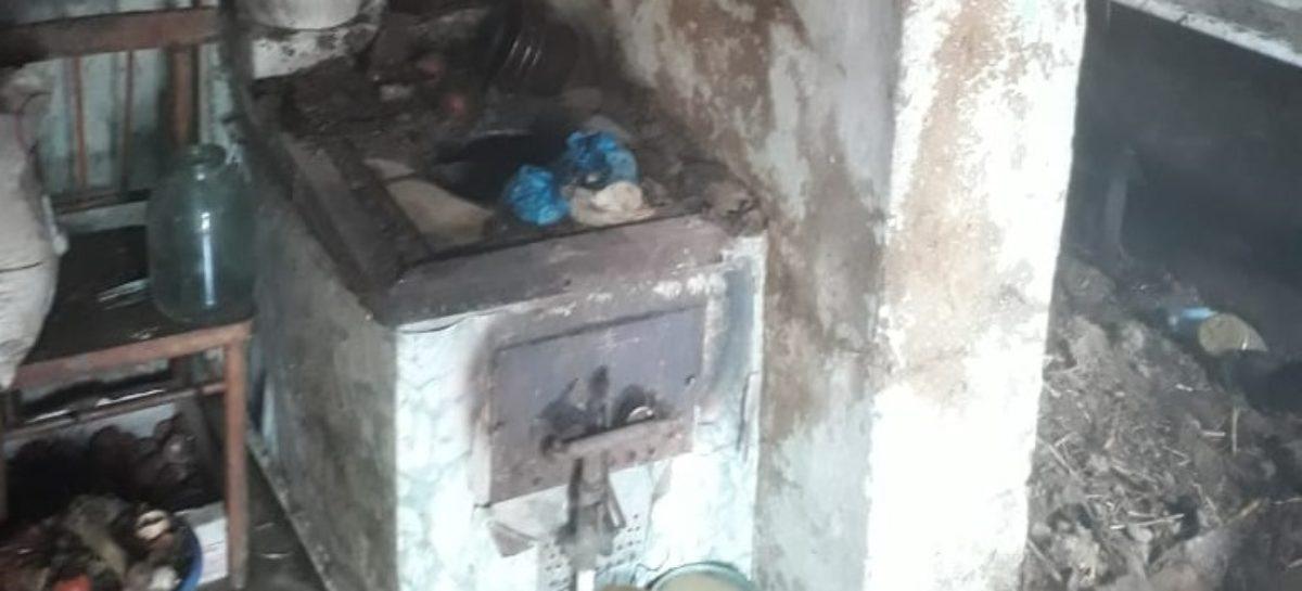 В Екатериновке горела зимняя кухня