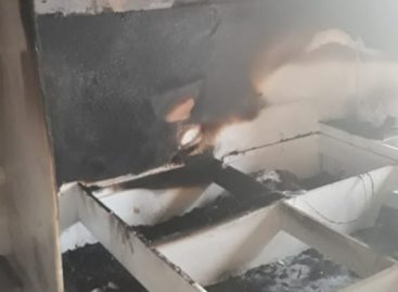 В праздник Рождества загорелся дом на улице Павлова