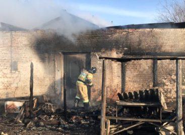 В посёлке Прогресс Сальского района горел большой дом