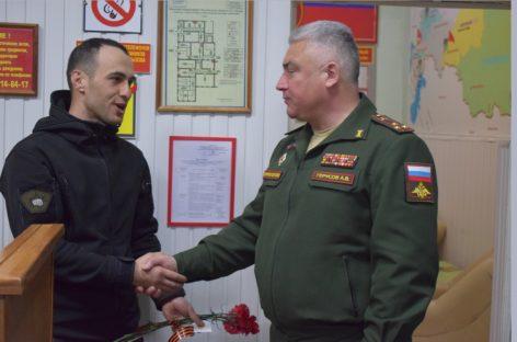 Алибек Алишанов награждён нагрудным знаком «За отличие в службе в особых условиях»
