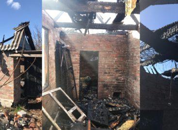 В Гиганте, на дачном участке, сгорела баня