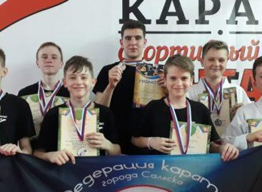 Сальские каратисты привезли серебряный урожай наград из Новочеркасска