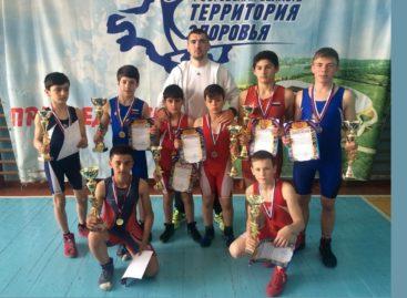 Гигантовские борцы привезли семь медалей из станицы Егорлыкской