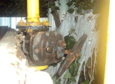 В Сальске молния ударила в газовую трубу