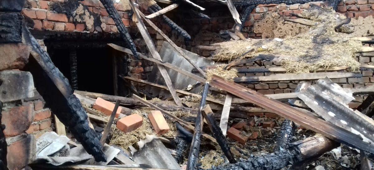В Романовке, в частном домовладении, сгорел гараж