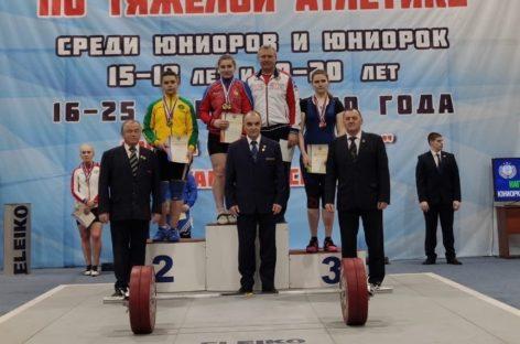 Сальчанка Дарья Рязанова в шестой раз победила на первенстве России по тяжелой атлетике