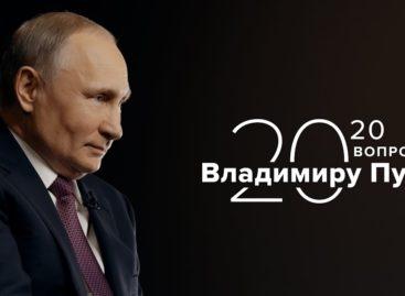 Стартовал спецпроект «20 вопросов Владимиру Путину». Первая серия — о правительстве