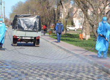 В Сальске начали обработку улиц препаратом, препятствующим распространению коронавирусной инфекции