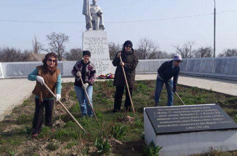 Жители Сандаты приняли участие в акции к юбилею Великой Победы