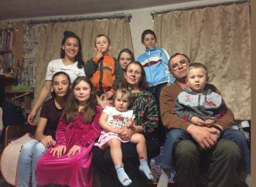 Большая семья больших сердец: сальчане взяли под опеку восьмерых детей