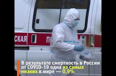 В России смертность от COVID-19 одна из самых низких в мире — 0,9%