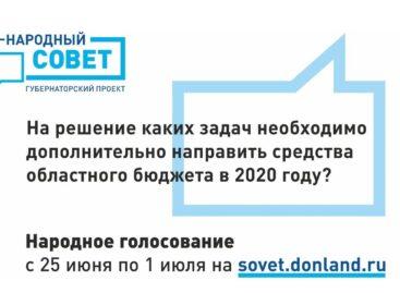Сегодня в нашем регионе началось голосование за приоритетные направления финансирования