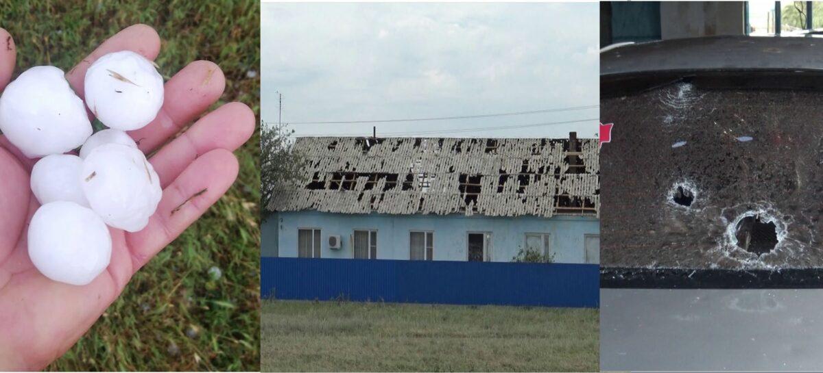 Град размером с куриное яйцо: нашим соседям из Пролетарского района досталось от стихии