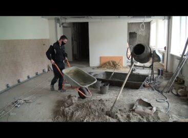 В корпусе Сальского индустриального техникума на Ново-Сальске продолжается капремонт