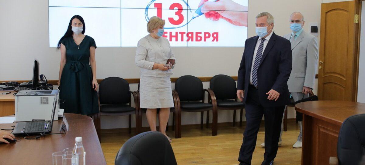 Действующий губернатор Ростовской области подал документы в избирком на участие в выборах главы региона