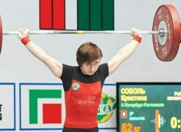 Сальчанка Кристина Соболь стала победительницей чемпионата России по тяжелой атлетике
