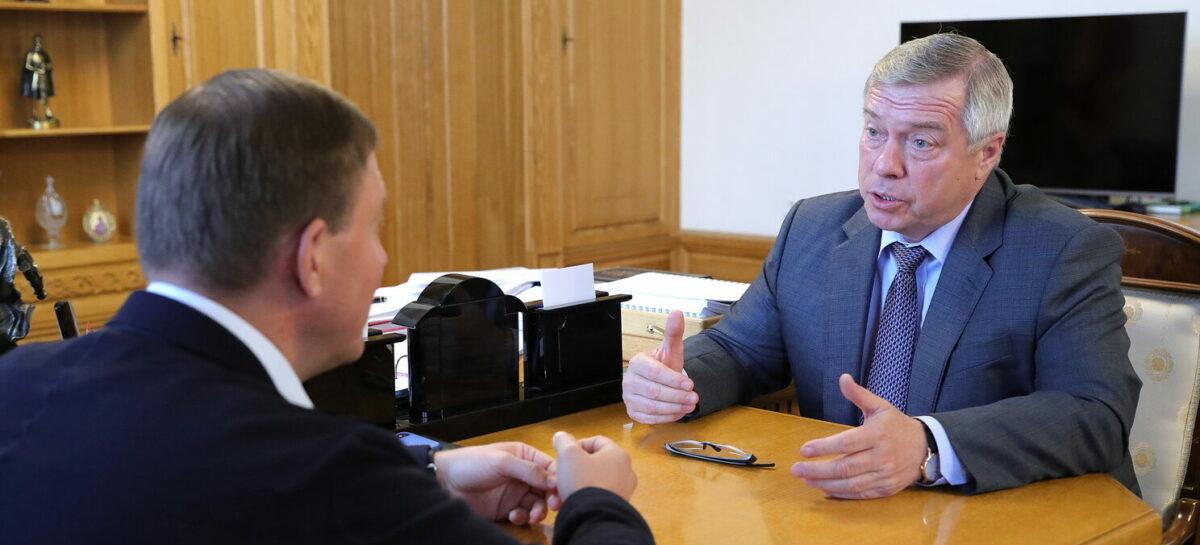 Василий Голубев и Андрей Турчак обсудили вопросы развития Ростовской области