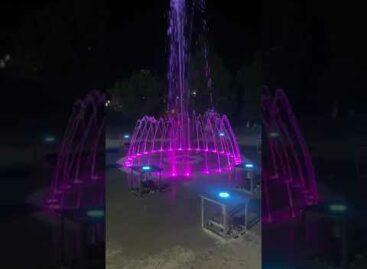 В Сальске протестировали новый фонтан в парке