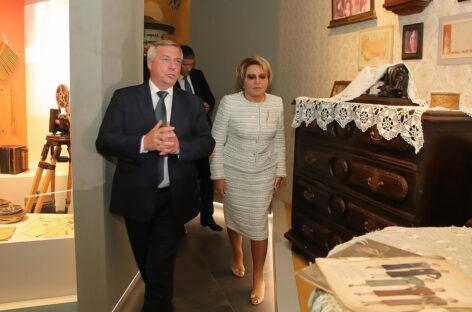 Валентина Матвиенко и Василий Голубев обсудили перспективы сохранения и развития культурного достояния донского региона