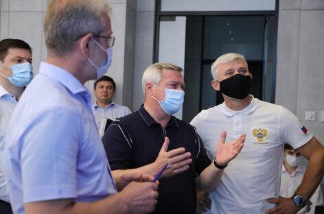 Василий Голубев и Евгений Дитрих обсудили проект создания Ростовского транспортного кольца