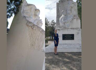 Юная жительница Сальска и её педагог призывают обратить внимание на состояние памятника братьям Красновым