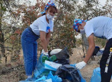 Гигантовские волонтеры на большом субботнике очистили от мусора восточную часть поселка