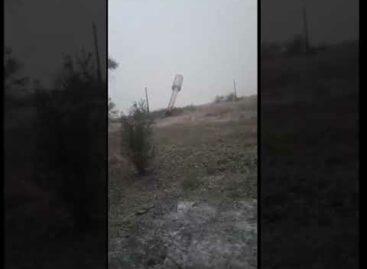В Сальском районе порывы ветра повалили водонапорную башню (ВИДЕО)
